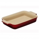 Le Creuset Rectangular dish 32 cm, stoneware, colour: cherry