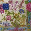 Салфетки бумажные Gien, Многоцветие, 16х16 см.