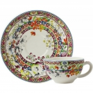 Cup and Saucer Gien (for breakfast), Bagatelle, 260 ml, 18 cm.