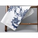 CV788 Полотенце, белый, рисунок - цветы синие, 76*76