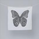 CV792 Полотенце, цвет белый, рисунок - бабочка черная, размер 76*76