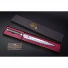 "Нож для нарезки двояковогнутая заточка KAI, Шун Классик, лезвие 9.0"" / 23 см., pукоятка 12,2 см."
