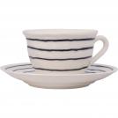 F462500328C0062 Чашка чайная с блюдцем, полоска синяя