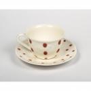 F462500328C0065 Чашка чайная с блюдцем, горох, кра