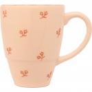 F466900328D0492 кружка, ваниль, орнамент - розовые цветы