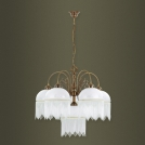 Chandelier Kutek Palermo, 5 light bulbs, patina, 800х750, PAL-ZWD-5(P)