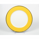 Presentation plate, Haviland & C.Parlon, Arc en ciel, golden-yellow, 32.5 cm.