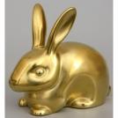 Фигурка Заяц №1 Арт-коллекция фигурок золото матовое Rudolf Kampf 2103