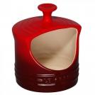 LE CREUSET91002200060000Горшочек столовый для соли, каменная керамика, цвет: вишневый