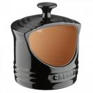 Горшочек столовый для соли, каменная керамика, цвет черный матовый, 91002200140000, LE CREUSET