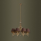Chandelier Kutek Portofino, for 8 light bulbs, patina, POR-ZW-8(P)