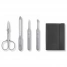 Набор из 4 предметов (ножнички, пилочка, маникюрная лопатка, маник.ножик) KAI сталь