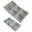 Эластомуль — Порции Гео, Перевёрнутые пирамиды, 6 ячеек De Buyer 1841.01