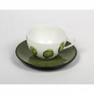 Чашка для кофе с блюдцем Medard de Noblat, икебали, декор листок, 115 мл.