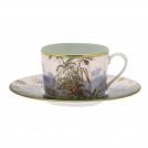 Чашка для капуччино с блюдцем,коллекция Бразилия, 330 мл, фарфор