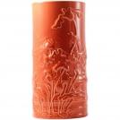 Ваза Бамбук Gien, Цветные эмали, терракотовый, H 25 см.