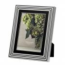 """Фоторамка Вера Ванг """"С любовью,"""" 13х18 см, черная эмаль+посеребрение Wedgwood, металл, стекло, картон"""